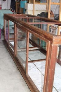 Antique Wood Glass Mercantile Display Case