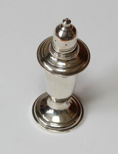 Sterling Silver Weighted Empire Glass Lined 5 Salt Shaker