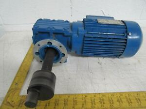 Sew Eurodrive Waf30 Dt80n4 Electric Motor With 8 20 1 Gearbox 0 75 Kw 200 200 22