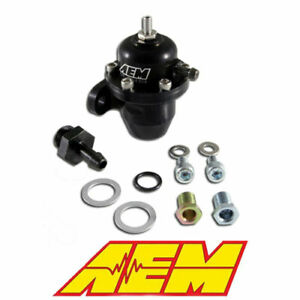 Aem Black High Volume Adjustable Fuel Pressure Regulator For Honda S2000 Civic