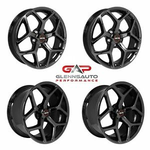 Race Star Drag Pack 18x5 17x10 5 For 15 S550 Mustang Black Chrome 4 Wheel Kit