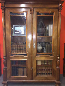 Late 19th Century Pear Wood Bookcase 54in W X 18 5in D X 79 5in H