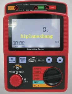 High Voltage 2 5kv 99 9g Ohm Insulation Resistance Tester Meter Megger Gm3123