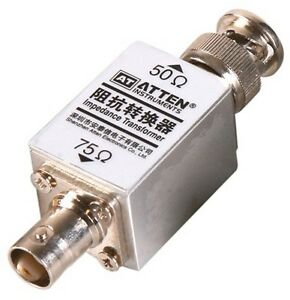 Rf High frequency 1000m 1ghz Impedance Transformer Converter 50 75 Ohm 250mw Bnc