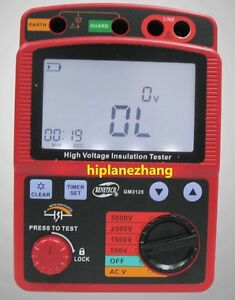 High Voltage 5kv Insulation Resistance Tester Meter Megger 1t Ohm Dar Pi Gm3125