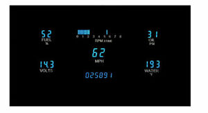 Dakota Digital Vfd3 1007 Universal 3 8 X 8 1 Rectangle Gauge Instrument System