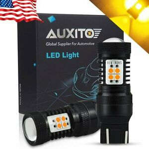2x Auxito 7443 7440 Led Amber Yellow Turn Signal Parking Marker Drl Light Bulb E