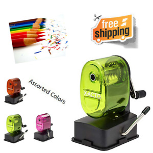 Manual Pencil Sharpener Table Bulldog Vacuum Mount School Office Lightweight