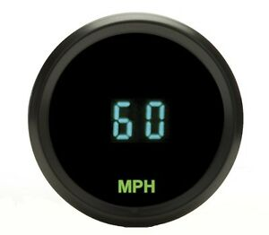 Dakota Digital Universal 2 1 16 Round Mini Speedometer Gauge 255mph Odyr 01 3