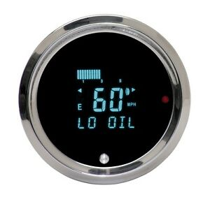 Dakota Digital Universal Round Performance Speed Tach Combo Gauge Odyr 01 6 Teal
