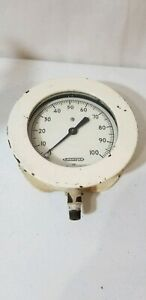 Rare Vintage Industrial Lonergan Los Angeles Gauge Meter 100psi Steampunk L a