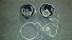 1967 68 Cougar Headlight Bucket Parts Lot Bucket X2 Harness Vacuum Line Ring