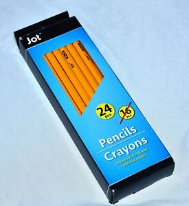 New Jot Pencils 2 Hb Lead Eleven Packs Of 24 For Total Of 264 All Wood Pencils