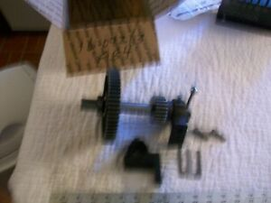 Back Gear Assembly With Brackets From Vintage Atlas 10 Metal Lathe