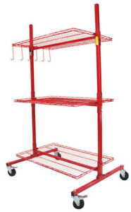 New Innovative Tools D Series Mobile Autobody Parts Storage Rack Shelf Cart