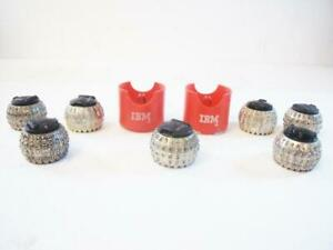 Lot Of 7 Ibm And Gp Type Balls For Ibm Selectric I iii Typewriters