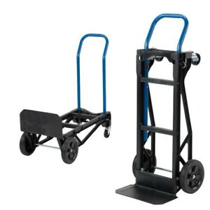 2 In 1 Convertible Hand Truck Lift Moving Dolly Cart For Up To 400 Lbs