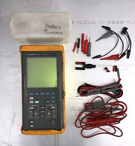 Fluke 93 50mhz Scopemeter W Current Probes And Test Leads
