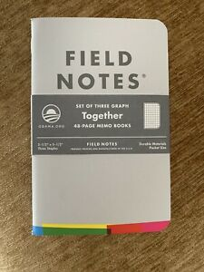 Field Notes Obama Promise Grey Grassroots Brand New