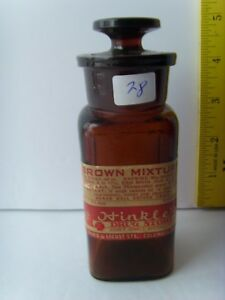 Antq Labeled Opium Apothecary Hinkle S Drug Store Bottle 5 1880 1920 49 28