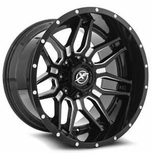 22 Xf Off Road Wheels Xf 222 Gloss Black Milled With Rbp Tires Package
