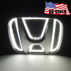 5d Led Car Tail Rear Logo Badge Emblem Lights Bulb For Honda Jazz Odyssey Cr V