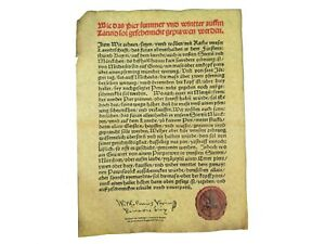 German Beer Purity Act Of 1516 Reinheitsgebot Parchment 123 004