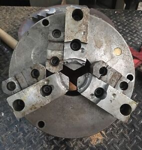 12 Bison 3 Jaw 2pc Metal Lathe Chuck Flat Back Use On Southbend Logan Clausing