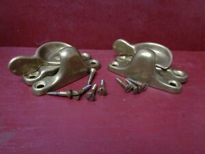 2 More Avail Nos Vintage Cast Brass Window Lock S With Screws 09