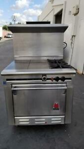 Wolf Range 36 wide 2 Burner Range W 24 Griddle Oven Nat Gas Clean