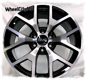 20 Inch Gloss Black Machine 2015 Gmc Sierra Denali Oe Replica 5656 Wheels 6x5 5