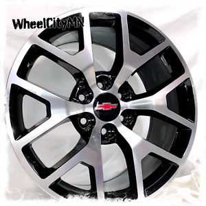 20 Inch Black Machine 2016 Gmc Denali Oe Replica Rims Fits Chevy Silverado 6x5 5