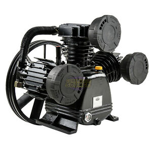 5 7 5 Hp Replacement Air Compressor Pump Single Stage 3 Cylinder 17 5 Cfm Max