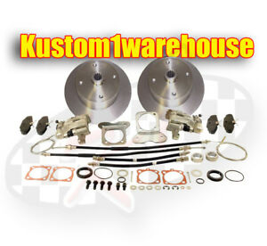 Rear Disc Brake Conversion Kit For 4 Lug Vw Volkswagen W emergency Parking 58 67