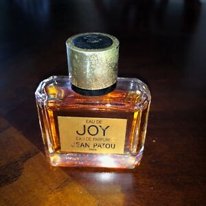 Vintage Jean Patou Joy Perfume Bottle 1 Oz Almost Full Old Bottle