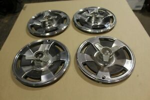 1966 Original Corvette Spinner Hubcaps Hub Caps Wheel Covers