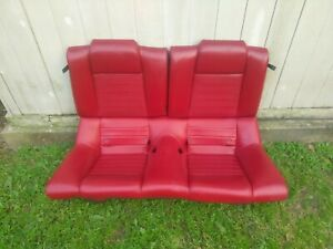2005 2009 Ford Mustang Coupe Leather Rear Seat Red With Foam Oem 05 06 07 08 09