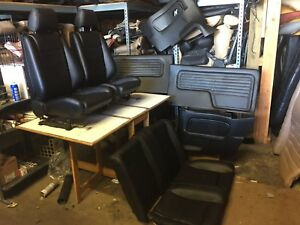 Bmw E30 325 318 New Black Seats Set Cards For Convertible 1987 93 3500 00