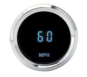 Dakota Digital Universal 2 1 16 Round Mini Kph Speedometer Gauge Blue Slx 01 4
