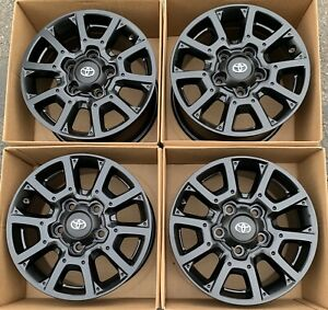 Toyota Tundra Trd Pro 18 Oem Factory Wheels Rims 18 Satin Black