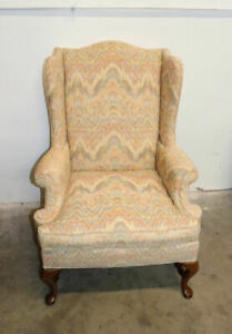 Hickory Chair Company Queen Anne Wing Back Chair