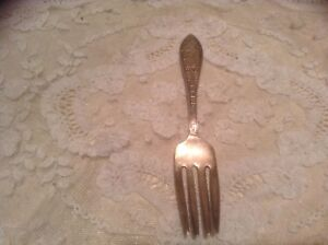 Old Vtg Sterling Silver Fork The Cat And The Fiddle Child S Dinnerware