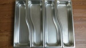 4 Used Vollrath Stainless Steel Steam Table Pans Wild Pan 3100020