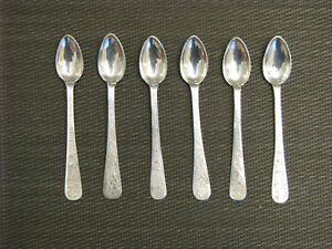 Set Of Six Persian 84 Silver Teaspoons Marked