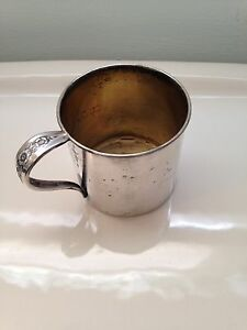 Vintage Baby Cup Promise Silver Plate Wm Rogers Son