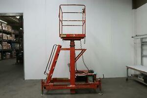 Ballymore Mr 28 ac 2 Person Telescoping Maintenance Lift 28 Ft W 500 Lbs Cap