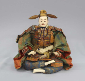 Japanese Antique Armed Samurai Doll General Toyotomi Hideyoshi 13 Height