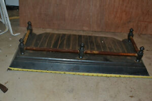 Antique Cast Iron Fireplace Surround Base Fender