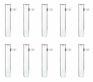 Test Tubes With Side Arm Pack Of 10 6 x1 Dia Borosilicate Glass eisco Labs