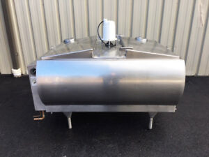 Mueller Refrigerated Jacketed 250 Gallon Bulk Milk Stainless Steel Tank